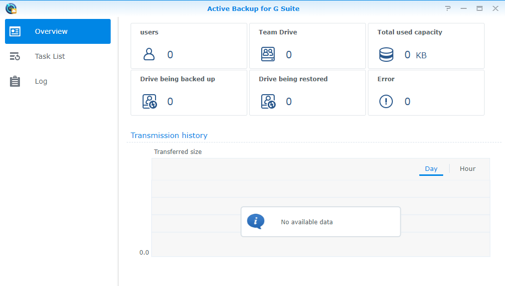 Synology Package Manager Gsuite